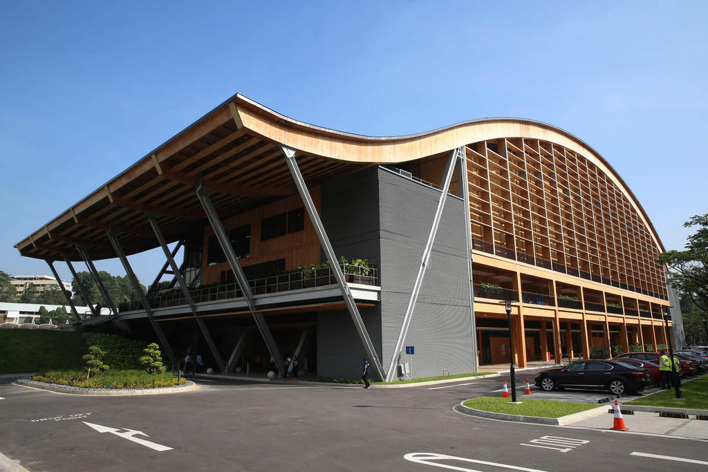 The Wave at NTU is the first large-scale building in Southeast Asia constructed primarily with mass engineered timber