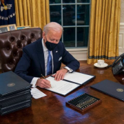 President Biden signs an executive order on the Paris climate agreement